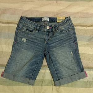 Aeropostale denim Bermuda shorts NWT